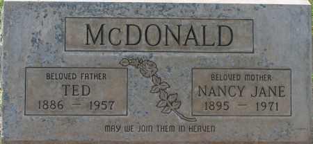 MCDONALD, NANCY JANE - Maricopa County, Arizona | NANCY JANE MCDONALD - Arizona Gravestone Photos