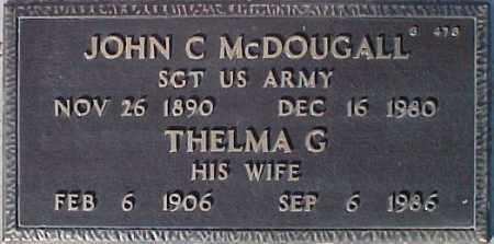 MCDOUGALL, JOHN C. - Maricopa County, Arizona | JOHN C. MCDOUGALL - Arizona Gravestone Photos