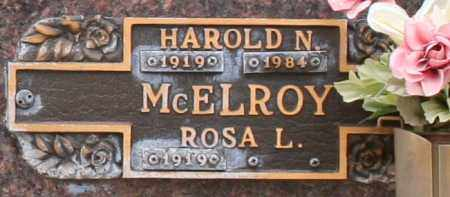 MCELROY, HAROLD N - Maricopa County, Arizona | HAROLD N MCELROY - Arizona Gravestone Photos