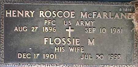 MCFARLAND, HENRY ROSCOE - Maricopa County, Arizona | HENRY ROSCOE MCFARLAND - Arizona Gravestone Photos