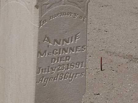 MCGINNES, ANNIE (SARA) - Maricopa County, Arizona | ANNIE (SARA) MCGINNES - Arizona Gravestone Photos