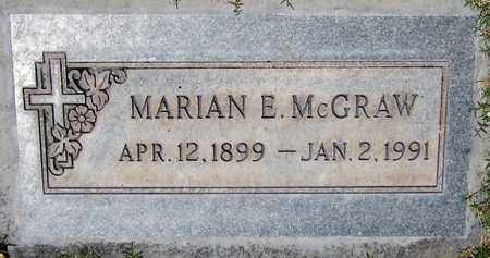MCGRAW, MARIAN E. - Maricopa County, Arizona | MARIAN E. MCGRAW - Arizona Gravestone Photos