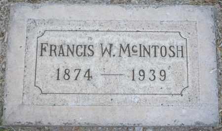 MCINTOSH, FRANCIS W - Maricopa County, Arizona   FRANCIS W MCINTOSH - Arizona Gravestone Photos