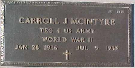MCINTYRE, CARROLL J. - Maricopa County, Arizona | CARROLL J. MCINTYRE - Arizona Gravestone Photos