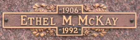 MCKAY, ETHEL M - Maricopa County, Arizona   ETHEL M MCKAY - Arizona Gravestone Photos