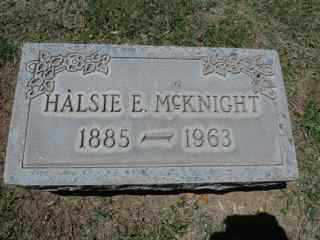 MCKNIGHT, HALSIE - Maricopa County, Arizona | HALSIE MCKNIGHT - Arizona Gravestone Photos