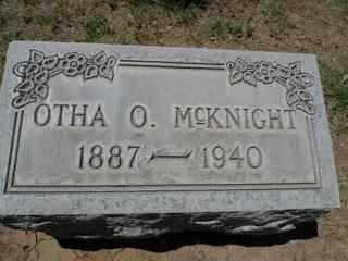 MCKNIGHT, OTHA - Maricopa County, Arizona   OTHA MCKNIGHT - Arizona Gravestone Photos