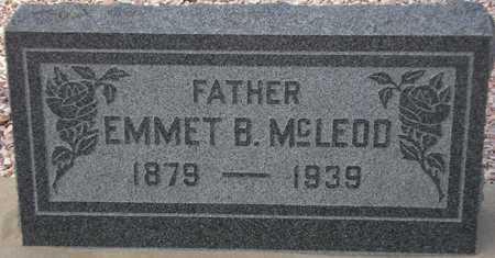 MCLEOD, EMMET B. - Maricopa County, Arizona | EMMET B. MCLEOD - Arizona Gravestone Photos