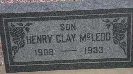 MCLEOD, HENRY CLAY - Maricopa County, Arizona   HENRY CLAY MCLEOD - Arizona Gravestone Photos