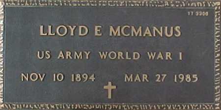 MCMANUS, LLOYD E. - Maricopa County, Arizona | LLOYD E. MCMANUS - Arizona Gravestone Photos
