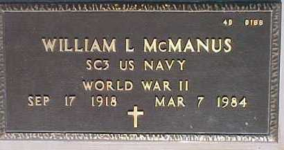 MCMANUS, WILLIAM L. - Maricopa County, Arizona | WILLIAM L. MCMANUS - Arizona Gravestone Photos