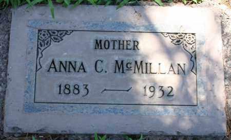 MCMILLAN, ANNA C - Maricopa County, Arizona | ANNA C MCMILLAN - Arizona Gravestone Photos