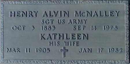 MCNALLEY, HENRY ALVIN - Maricopa County, Arizona | HENRY ALVIN MCNALLEY - Arizona Gravestone Photos