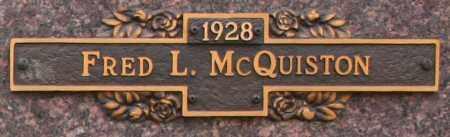 MCQUISTON, FRED L - Maricopa County, Arizona | FRED L MCQUISTON - Arizona Gravestone Photos