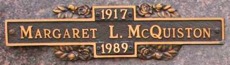 MCQUISTON, MARGARET L - Maricopa County, Arizona | MARGARET L MCQUISTON - Arizona Gravestone Photos