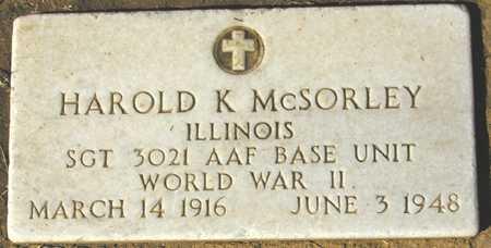 MCSORLEY, HAROLD K. - Maricopa County, Arizona | HAROLD K. MCSORLEY - Arizona Gravestone Photos
