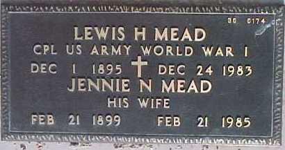 MEAD, LEWIS H. - Maricopa County, Arizona | LEWIS H. MEAD - Arizona Gravestone Photos