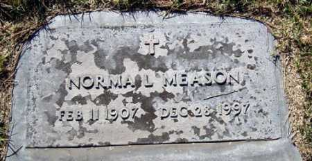 MEASON, NORMA L. - Maricopa County, Arizona | NORMA L. MEASON - Arizona Gravestone Photos