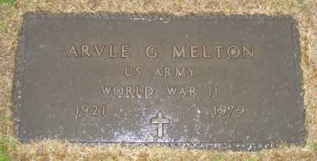 MELTON, ARVLE G. - Maricopa County, Arizona | ARVLE G. MELTON - Arizona Gravestone Photos