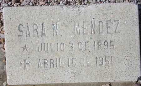 MENDEZ, SARA N. - Maricopa County, Arizona   SARA N. MENDEZ - Arizona Gravestone Photos