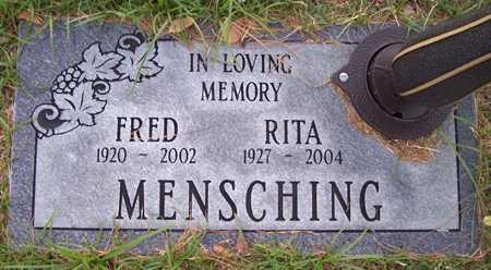 MENSCHING, FRED - Maricopa County, Arizona | FRED MENSCHING - Arizona Gravestone Photos