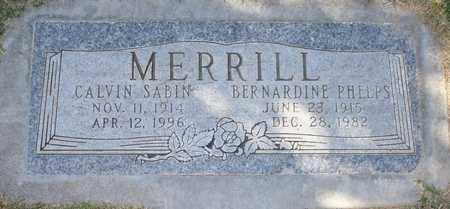 MERRILL, CALVIN SABIN - Maricopa County, Arizona | CALVIN SABIN MERRILL - Arizona Gravestone Photos