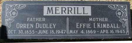 MERRILL, ORREN DUDLEY - Maricopa County, Arizona | ORREN DUDLEY MERRILL - Arizona Gravestone Photos