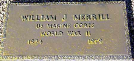 MERRILL, WILLIAM J. - Maricopa County, Arizona | WILLIAM J. MERRILL - Arizona Gravestone Photos