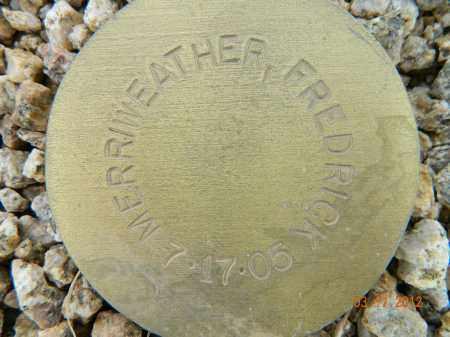MERRIWEATHER, FREDRICK - Maricopa County, Arizona | FREDRICK MERRIWEATHER - Arizona Gravestone Photos