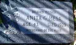 MESA, ANITA - Maricopa County, Arizona | ANITA MESA - Arizona Gravestone Photos
