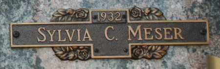 MESER, SYLVIA C - Maricopa County, Arizona   SYLVIA C MESER - Arizona Gravestone Photos