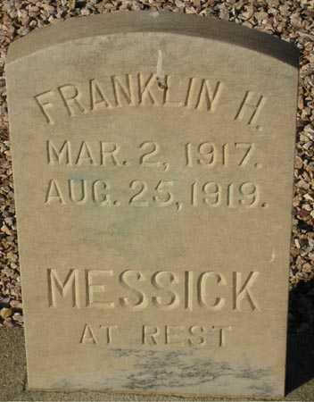 MESSICK, FRANKLIN H. - Maricopa County, Arizona | FRANKLIN H. MESSICK - Arizona Gravestone Photos