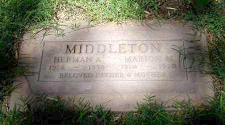 MIDDLETON, MARION M. - Maricopa County, Arizona | MARION M. MIDDLETON - Arizona Gravestone Photos