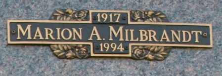 MILBRANDT, MARION A - Maricopa County, Arizona | MARION A MILBRANDT - Arizona Gravestone Photos