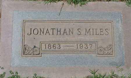 MILES, JONATHAN S. - Maricopa County, Arizona | JONATHAN S. MILES - Arizona Gravestone Photos