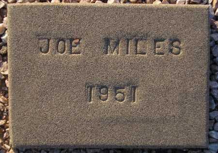MILES, JOE (OLD MARKER) - Maricopa County, Arizona | JOE (OLD MARKER) MILES - Arizona Gravestone Photos
