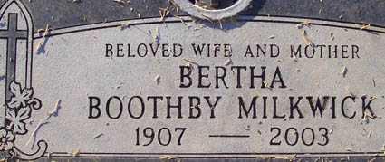 MILKWICK, BERTHA - Maricopa County, Arizona | BERTHA MILKWICK - Arizona Gravestone Photos