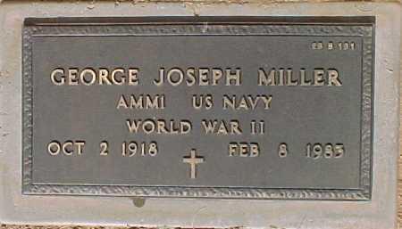 MILLER, GEORGE JOSEPH - Maricopa County, Arizona | GEORGE JOSEPH MILLER - Arizona Gravestone Photos