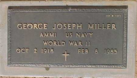 MILLER, GEORGE JOSEPH - Maricopa County, Arizona | GEORGE JOSEPH MILLER - Arizona Gravestone Photos