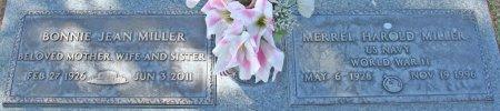 MILLER, BONNIE JEAN - Maricopa County, Arizona   BONNIE JEAN MILLER - Arizona Gravestone Photos