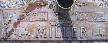 MILLER, MARION L. - Maricopa County, Arizona   MARION L. MILLER - Arizona Gravestone Photos