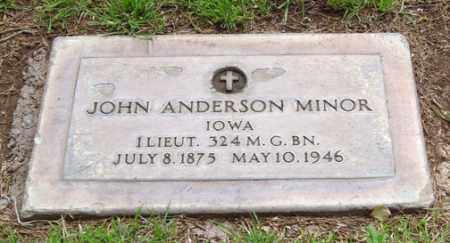 MINOR, JOHN ANDERSON - Maricopa County, Arizona | JOHN ANDERSON MINOR - Arizona Gravestone Photos