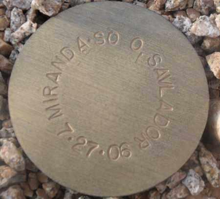 MIRANDA-SO O, SAVLADOR - Maricopa County, Arizona   SAVLADOR MIRANDA-SO O - Arizona Gravestone Photos