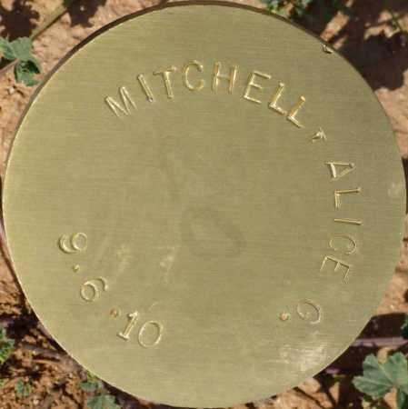MITCHELL, ALICE G. - Maricopa County, Arizona   ALICE G. MITCHELL - Arizona Gravestone Photos