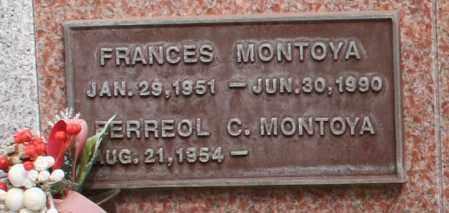 MONTOYA, FRANCES - Maricopa County, Arizona   FRANCES MONTOYA - Arizona Gravestone Photos