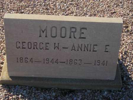 MOORE, ANNIE E. - Maricopa County, Arizona   ANNIE E. MOORE - Arizona Gravestone Photos