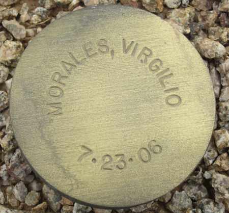 MORALES, VIRGILIO - Maricopa County, Arizona   VIRGILIO MORALES - Arizona Gravestone Photos