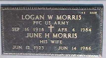 MORRIS, JUNE H. - Maricopa County, Arizona | JUNE H. MORRIS - Arizona Gravestone Photos