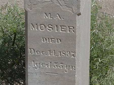 MOSIER, MARY A - Maricopa County, Arizona | MARY A MOSIER - Arizona Gravestone Photos
