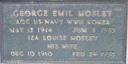 MOSLEY, IZA LOUISE - Maricopa County, Arizona | IZA LOUISE MOSLEY - Arizona Gravestone Photos